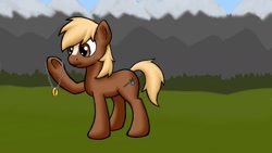 Size: 1600x900 | Tagged: safe, artist:bill-the-pony, earth pony, pony, male, solo, stallion, the one ring