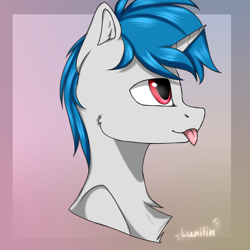 Size: 5000x5000 | Tagged: safe, artist:lunilin, oc, oc:ponywka, pony, unicorn, gradient background