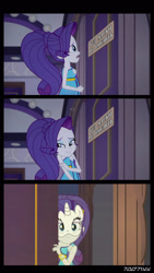 Size: 1288x2282 | Tagged: safe, edit, edited screencap, editor:teren rogriss, screencap, rarity, equestria girls, spring breakdown, cyrillic, door, mask, russian, translated in the description