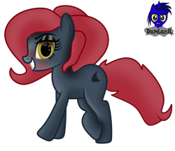 Size: 4800x4154 | Tagged: safe, artist:damlanil, oc, oc:jessi-ka, earth pony, pony, blushing, female, looking at you, makeup, mare, simple background, solo, transparent background, vector