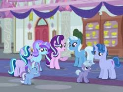 Size: 1280x960 | Tagged: safe, artist:tarakuna, starlight glimmer, trixie, family, female, lesbian, magical lesbian spawn, offspring, parent:starlight glimmer, parent:trixie, parents:startrix, shipping, startrix