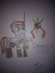Size: 3120x4160   Tagged: safe, oc, oc:cornelius1606, fallout, gun, l1a1, rifle, scar, traditional art, weapon
