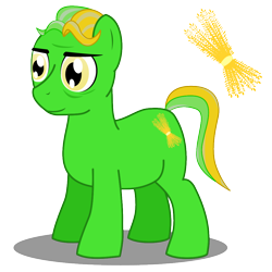Size: 1000x1000 | Tagged: safe, oc, oc only, oc:dr. wheat germ, earth pony, pony, cutie mark, fat, food, male, obese, shadow, simple background, smiling, solo, stallion, transparent background, vector, wheat