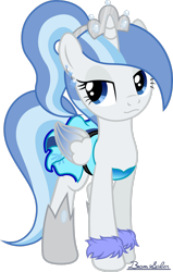 Size: 1950x3074 | Tagged: safe, artist:beamsaber, oc, oc:princess snowblossom, alicorn, alicorn oc, clothes, colored wings, gradient wings, horn, solo, wings