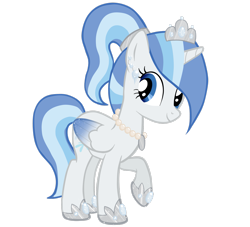 Size: 2569x2335 | Tagged: safe, artist:kaiilu, oc, oc:princess snowblossom, alicorn, alicorn oc, colored wings, gradient wings, horn, solo, wings