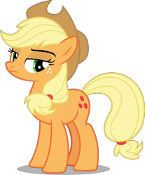 Size: 6622x8000 | Tagged: safe, artist:chrzanek97, applejack, earth pony, pony, going to seed, .svg available, absurd resolution, annoyed, female, lidded eyes, mare, simple background, solo, transparent background, vector