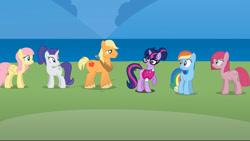 Size: 1280x720 | Tagged: safe, artist:agrol, artist:con1011, artist:lady-cold, artist:orin331, edit, edited screencap, screencap, applejack, fluttershy, pinkie pie, rainbow dash, rarity, twilight sparkle, earth pony, pegasus, pony, unicorn, dancerverse, alternate cutie mark, alternate hairstyle, alternate universe, applejack (male), bowtie, change your reality, clothes, earth pony rainbow dash, female, glasses, horse collar, male, mane six, mare, pinkamena diane pie, race swap, rule 63, shirt, stallion, sweater, unicorn twilight