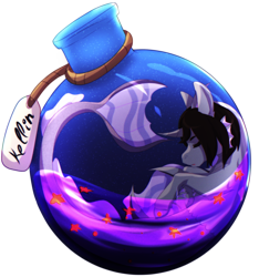 Size: 1972x2108 | Tagged: safe, artist:dark-drawz, siren, bottle, cloven hooves, commission, curved horn, eyes closed, fangs, fins, fish tail, horn, kellin quinn, male, name tag, ponified, pony in a bottle, rope, scales, simple background, sleeping, sleeping with sirens, solo, transparent background, ych result