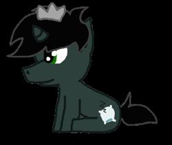 Size: 802x673 | Tagged: safe, artist:tophatlycanthrope, oc, oc:prince morpheus, unicorn, horn, offspring, parent:king sombra, parent:princess luna, parents:lumbra, solo, unicorn oc