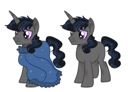 Size: 1302x936 | Tagged: safe, artist:rose-moonlightowo, oc, unicorn, magical gay spawn, male, offspring, parent:king sombra, parent:shining armor, simple background, solo, stallion, transparent background