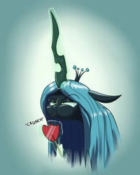 Size: 1280x1600 | Tagged: safe, artist:rocket-lawnchair, queen chrysalis, changeling, changeling queen, angry, candy, changelings in the comments, cute, cutealis, female, food, grumpy, lollipop, madorable, solo