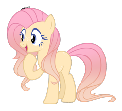 Size: 1574x1422 | Tagged: safe, artist:leaficun3, fluttershy, pony, alternate design, earth pony fluttershy, race swap, simple background, solo, transparent background