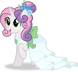 Size: 5537x5144 | Tagged: safe, artist:kojibiose, sweetie belle, pony, unicorn, absurd resolution, clothes, dress, female, gala dress, older, older sweetie belle, simple background, solo, transparent background, vector