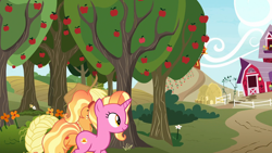 Size: 1920x1080 | Tagged: safe, screencap, applejack, luster dawn, earth pony, pony, unicorn, the last problem, female, mare, older, older applejack, sweet apple acres, the magic of friendship grows
