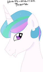 Size: 265x437 | Tagged: safe, artist:wrath-marionphauna, princess celestia, alicorn, digital art, male, prince, prince solaris, rule 63, simple background, smiling, solo