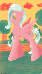Size: 1200x2080 | Tagged: safe, artist:wrath-marionphauna, fluttershy, digital art, looking at you, palette swap, recolor, solo, surprised