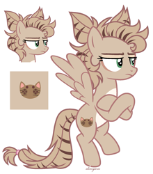Size: 1669x1900 | Tagged: safe, artist:shineyaris, oc, oc only, oc:cathy quill, pegasus, pony, crossed arms, eyeshadow, female, makeup, mare, markings, raised hoof, raised leg, simple background, solo, white background