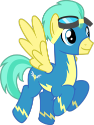 Size: 4000x5348 | Tagged: safe, artist:melisareb, pickle barrel, pegasus, pony, .svg available, absurd resolution, clothes, cute, flying, goggles, male, older, older pickle barrel, picklebetes, show accurate, simple background, solo, stallion, transparent background, uniform, vector, wings, wonderbolts uniform
