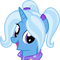 Size: 469x469 | Tagged: safe, artist:derpy-vectors, trixie, alternate hairstyle, babysitter trixie, clothes, gameloft, gameloft interpretation, hoodie, simple background, solo, transparent background, vector