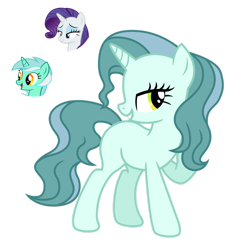 Size: 1280x1321 | Tagged: safe, artist:tenderrain46, lyra heartstrings, rarity, pony, unicorn, female, magical lesbian spawn, mare, offspring, parent:lyra heartstrings, parent:rarity, simple background, transparent background