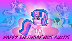 Size: 3800x2160 | Tagged: safe, artist:ejlightning007arts, artist:melisareb, artist:徐詩珮, oc, oc only, oc:ej, oc:hsu amity, oc:rainbow eevee, alicorn, eevee, pony, alicorn oc, amityeevee, amityej, birthday, bisexual, clothes, cute, female, glasses, heart, horn, hug, lesbian, male, mare, not twilight sparkle, oc x oc, pokémon, shipping, stallion, straight, wallpaper, wings