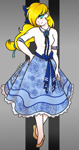 Size: 701x1335 | Tagged: safe, artist:thanhvy15599, oc, oc:sapphire note, human, clothes, female, humanized, humanized oc, skirt, solo