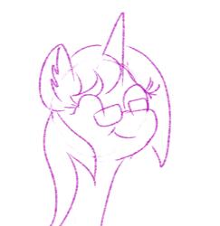 Size: 1080x1111   Tagged: safe, artist:bryastar, oc, oc only, oc:bright star, unicorn, sketch, smiling