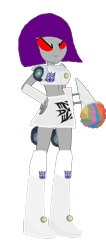 Size: 510x1199 | Tagged: safe, artist:electrahybrida, derpibooru exclusive, oc, oc:brain freeze, equestria girls, equestria girls series, x marks the spot, cybertronian, decepticon, headlights, reference, snowcone, snowcone truck, transformers, transformers canterlot division, wheel