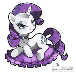 Size: 824x783 | Tagged: dead source, safe, artist:angelwaveo6, artist:lindsay cibos, color edit, edit, rarity, pony, unicorn, choker, colored, crossed hooves, cushion, female, mare, prone, simple background, solo, transparent background