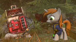 Size: 2560x1440   Tagged: safe, artist:phenioxflame, oc, oc:littlepip, fallout equestria, fallout, gun, nuka cola, weapon