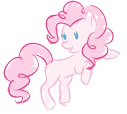 Size: 1327x1194 | Tagged: safe, artist:mahistuff, pinkie pie, earth pony, cute, digital art, doodle, simple background, solo