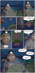 Size: 1000x2102 | Tagged: safe, artist:cactuscowboydan, idw, pinkie pie, earth pony, spoiler:comic, spoiler:comic32, alien (franchise), apple pinkie, comic, egg, food, hungry, pod, this will end in death