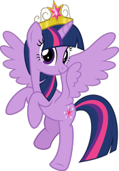 Size: 5057x7226 | Tagged: safe, artist:jhayarr23, part of a set, twilight sparkle, alicorn, pony, absurd resolution, big crown thingy, element of magic, female, flying, jewelry, looking at you, mare, regalia, simple background, solo, spread wings, transparent background, twilight sparkle (alicorn), vector, wings