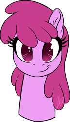 Size: 530x920 | Tagged: safe, artist:light262, berry punch, berryshine, pony, berrybetes, bust, cute, ear fluff, female, looking at you, mare, portrait, simple background, solo, transparent background
