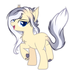 Size: 1372x1397 | Tagged: safe, artist:twinklecometyt, hybrid, female, magical gay spawn, offspring, parent:capper dapperpaws, parent:double diamond, simple background, solo, transparent background