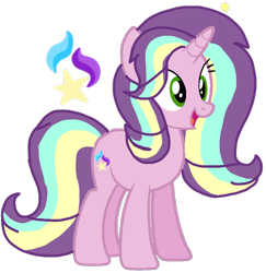 Size: 1032x1061 | Tagged: safe, artist:徐詩珮, oc, oc:sunbeam glimmer, bubbleverse, magical lesbian spawn, offspring, parent:starlight glimmer, parent:sungold, parents:sunglimmer, simple background, transparent background