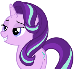 Size: 1280x1195 | Tagged: safe, artist:andoanimalia, starlight glimmer, pony, unicorn, the times they are a changeling, bedroom eyes, female, grin, simple background, smiling, transparent background, vector