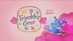 Size: 1920x1080 | Tagged: safe, screencap, trixie, friendship gems, my little pony: pony life, spoiler:pony life s01e17, cape, clothes, gem, hat, title card