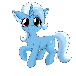 Size: 2362x2362 | Tagged: safe, artist:jubyskylines, trixie, pony, unicorn, cheek fluff, chest fluff, cute, diatrixes, ear fluff, female, high res, leg fluff, mare, simple background, solo, tongue out, transparent background