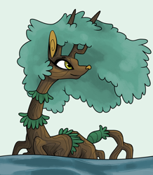 Size: 1800x2060 | Tagged: safe, artist:smirk, oc, oc only, oc:ms. mangrove, original species, plant pony, tree pony, legitimately amazing mspaint, ms paint, plant, roots, solo, tree, water