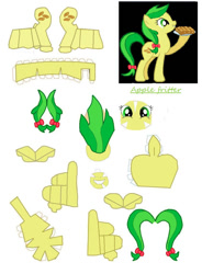 Size: 840x1140 | Tagged: safe, artist:dryroutetodevon, apple fritter, earth pony, pony, apple family member, craft, female, mare, papercraft, solo