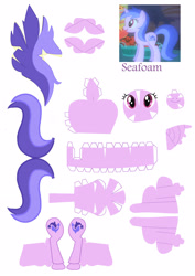 Size: 2061x2911 | Tagged: safe, artist:nodreams, sea swirl, seafoam, pony, unicorn, craft, papercraft, solo