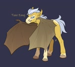 Size: 1600x1416 | Tagged: safe, artist:yarugreat, oc, oc only, bat pony, pony, bat pony oc, bat wings, solo, wings