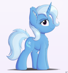 Size: 2779x3000 | Tagged: safe, artist:arcane-thunder, trixie, pony, unicorn, cheek fluff, cute, diatrixes, ear fluff, female, looking at you, mare, simple background, smiling, solo, white background