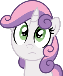 Size: 2985x3600 | Tagged: safe, artist:slb94, artist:whitediamonds, sweetie belle, cute, diasweetes, looking at something, simple background, solo, transparent background, vector