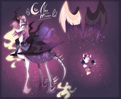 Size: 1024x836 | Tagged: safe, artist:manella-art, oc, oc:sunny moonlight, alicorn, bat pony, bat pony alicorn, pony, alternate design, bat wings, female, horn, magical lesbian spawn, mare, offspring, parent:rainbow dash, parent:twilight sparkle, parents:twidash, solo, wings