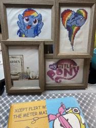 Size: 1536x2048   Tagged: safe, artist:chokotin3310, rainbow dash, embroidery, logo, my little pony logo