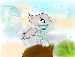 Size: 1080x810 | Tagged: safe, artist:bellas.den, oc, oc only, earth pony, pony, earth pony oc, jewelry, looking up, necklace, pearl necklace, raised hoof