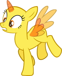 Size: 985x1213 | Tagged: safe, artist:pegasski, oc, oc only, alicorn, pony, parental glideance, alicorn oc, bald, base, eyelashes, frown, horn, open mouth, simple background, solo, transparent background, two toned wings, wings