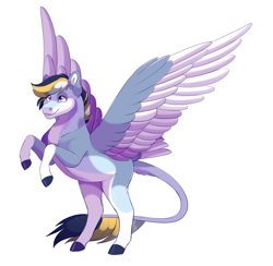 Size: 2100x2050 | Tagged: safe, artist:uunicornicc, oc, pegasus, pony, male, rearing, simple background, solo, stallion, two toned wings, white background, wings